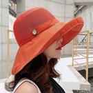 《簍空木扣帽》簍空木扣素色遮陽帽【ZJ01】防曬帽 漁夫帽