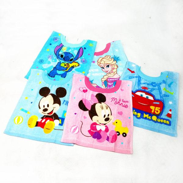 口水巾 毛巾 寶寶 圍兜 迪士尼 Disney 米奇 米妮 史迪奇 汽車總動員 閃電麥坤 冰雪奇緣 艾莎 27x54cm