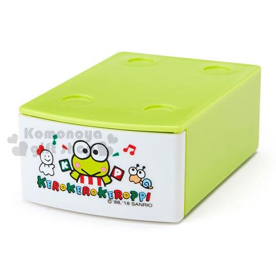 〔小禮堂〕大眼蛙 迷你積木抽屜盒附便條紙《綠.舉旗.音符》可堆疊.內含20張 4901610-59349