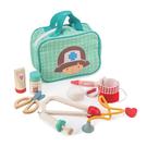 精緻布質提包,玩具好收納。 在遊戲中操作可愛精緻的配件。 認識醫療用品使用,培育同理心。