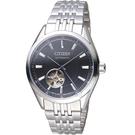 CITIZEN星辰紳士時尚開芯機械腕錶 NH9110-81E 黑