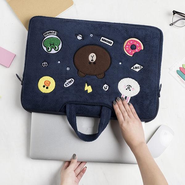 蘋果 電腦包 15.6寸 macbook air 13 pro 筆電 內膽包 手提包 布朗熊【美樂蒂】
