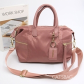 Catsbag|雙側拉鍊尼龍水餃包 防潑水尼龍側背包 W1815