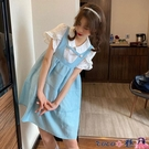 熱賣背心洋裝 無袖背心蓬蓬裙俏皮可愛連身裙女夏季2021新款學生寬鬆百搭裙子潮【618 狂歡】