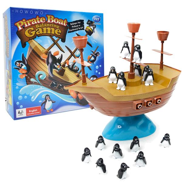 企鵝海盜船 企鵝平衡船 諾亞方舟 益智玩具 冰山企鵝 疊疊樂 桌遊 0761