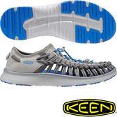 KEEN 1016909深灰/寶藍 Uneek O2 男專戶外護趾涼鞋 水陸兩用鞋/沙灘戲水拖鞋 東山戶外