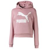 PUMA Classics T7 童裝 長袖 連帽 休閒 經典 LOGO 棉質 粉【運動世界】58028814