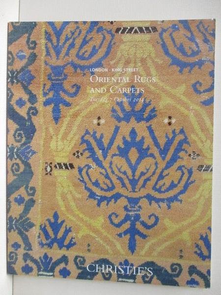 【書寶二手書T8/收藏_JR5】Christie s_Oriental Rugs and Carpets_2014/10/7