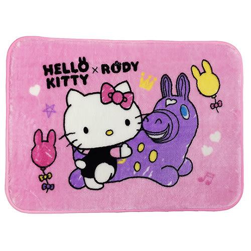 【享夢城堡】HELLO KITTY & RODY 我的好朋友 法蘭絨地墊2入(粉)