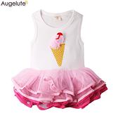 無袖包屁裙 立體冰淇淋 蓬蓬紗 女寶寶 包屁衣 爬服 哈衣 Augelute Baby 32151