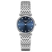LONGINES 浪琴 La Grande 嘉嵐真鑽石英女錶-藍x銀/29mm L45124976