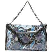 Stella McCartney Falabella 藍紫色亮面蛇紋兩用鏈帶包(中) 1320565-23
