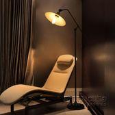 美式復古loft工業風美式鐵藝懷舊客廳臥室床頭創意長臂釣魚落地燈 IGO
