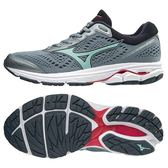 MIZUNO WAVE RIDER 22 女鞋 慢跑 路跑 耐磨 防滑 緩震 透氣 寬楦  灰【運動世界】 J1GD183235