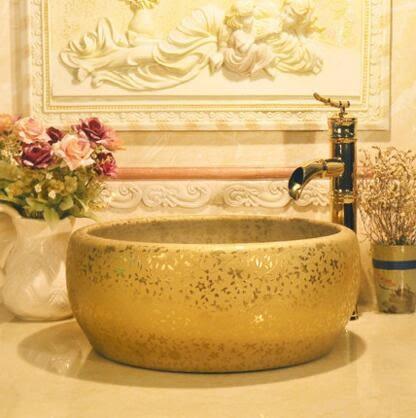 設計師美術精品館歐式景德鎮藝術台盆洗臉盆洗手盆台上盆