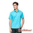 【wildland 荒野】男 椰炭紗抗菌抗UV短袖上衣『冰河藍』0A91626 運動 露營 登山 吸濕 排汗 快乾