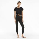 PUMA 女款黑色瑜珈系列Studio高腰9分緊身褲-NO.52023201