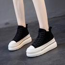 靴子 短靴 短靴女2021新款秋冬英倫風百搭韓版網紅厚底馬丁靴松糕機車靴女鞋