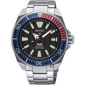SEIKO Prospex PADI 聯名200米潛水機械錶-紅X籃框