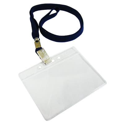 無印字證件套/派司套/識別套+布帶整組 深藍台製