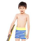 ★奧可那★ 藍白條紋船錨泳褲