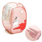 收納式旅行可愛動物洗衣籃-麋鹿款(1入)【小三美日】
