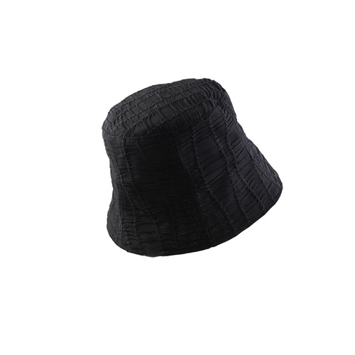 漁夫帽-褶皺純色百搭遮陽女盆帽2色73xu9[時尚巴黎]
