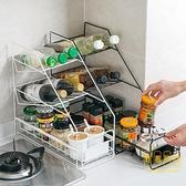 廚房儲物架可抽式鐵藝置物架多層用品收納架調料架【輕奢時代】