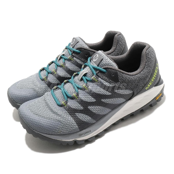 Merrell 戶外鞋 Antora 2 灰 綠 女鞋 低筒 越野 黃金大底 【ACS】 ML035628