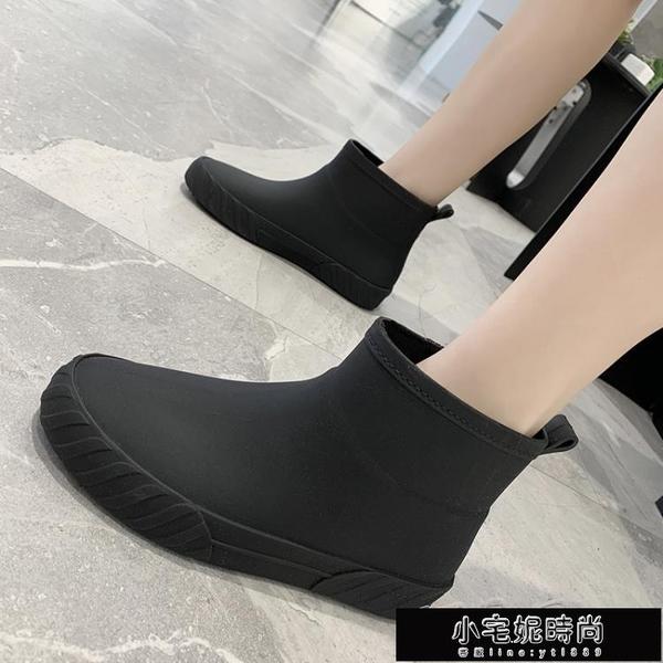 雨鞋 日繫時尚雨鞋女夏防滑低筒水鞋水靴短筒雨靴洗車買菜廚房鞋膠鞋潮 小宅妮