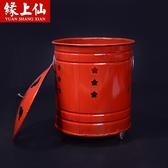 紅色聚寶桶 紅鐵桶燒紙桶 化寶