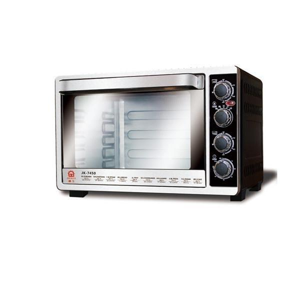 【中彰投電器】晶工牌(45L)雙溫控不鏽鋼旋風烤箱,JK-7450【全館刷卡分期+免運費】時尚美觀大方~