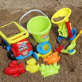 兒童沙灘玩具車套裝決明子玩沙子工具桶寶寶挖沙鏟子大號沙漏玩具igo 范思蓮恩