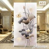 屏風隔斷客廳中式小戶型摺疊行動推拉簡約現代布藝省空間簡易摺屏WD 時尚芭莎