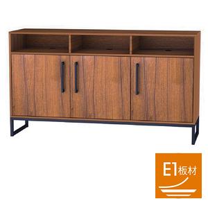棈柚工業風三門三格邊櫃 採E1板材