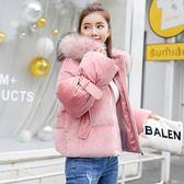 鋪棉外套 金絲絨面包服短款加厚棉襖外套 巴黎春天