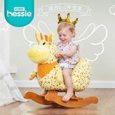 哈喜屋兒童搖搖馬音樂木馬嬰兒玩具寶寶搖椅實木周歲禮物 igo