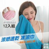 【好棉嚴選】12入組-瞬間降溫!台灣製 沁涼消暑吸濕排汗抗UV防曬冰涼巾