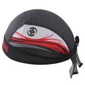 自行車頭巾 抗紫外線-創意紅海波浪造型男女單車運動頭巾73fo45【時尚巴黎】
