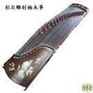 古箏 [網音樂城] 彩石 雕刻 花語 楠木 21弦箏 (贈 箏架 調音器 厚袋 ) Guzheng