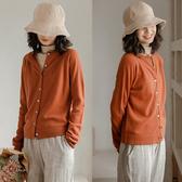 針織外套-100綿羊毛開衫毛衣外搭/設計家 Z9903