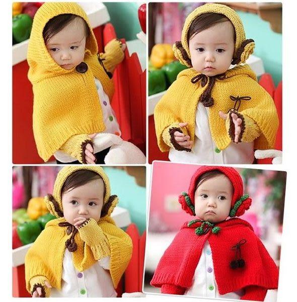*甜蜜蜜親子童裝*甜美((花朵針織款))圍巾帽+髮帶+手套三件組