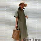 「Summer」舒適船長領口連身洋裝 - Green Parks