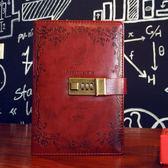 創意密碼手賬本帶鎖日記本線裝記事本商務創意文具筆記本子韓國