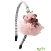 兒童頭箍頭飾品韓國簡約防滑細邊髮箍髮卡小女孩布藝甜美盤頭髮飾 【快速出貨】
