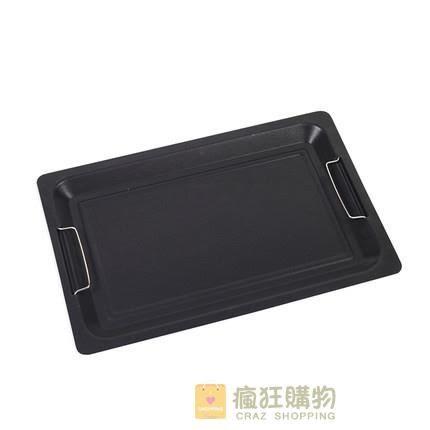 一件85折-燒烤盤韓式烤肉盤戶外木炭爐不黏煎盤長方形微波爐電磁爐通用工具WY