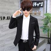 西裝外套韓版修身帥氣男士學生小西裝便服單西休閒潮流西服外套