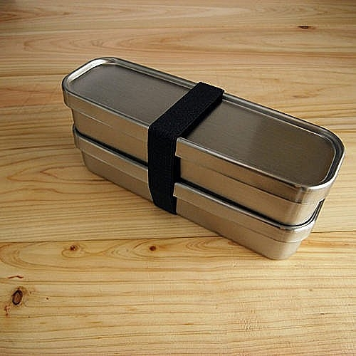 工房AIZAWA 不銹鋼便當盒 雙層長型經典款-350ml*2