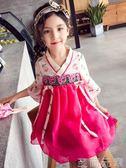 女童洋裝夏季新款 女童洋裝漢服中國風儒裙旗袍公主裙超洋氣韓 至簡元素