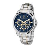 MASERATI 瑪莎拉蒂 經典質感三眼計時腕錶44mm(R8873621016)